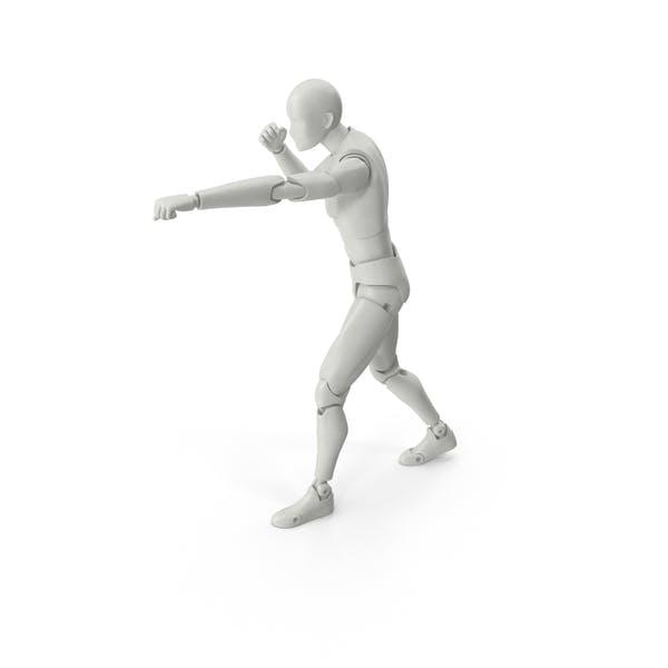 Posed Figure Fighting Pose