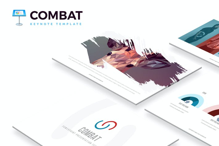 Thumbnail for Combat Keynote Template