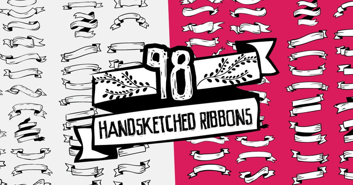 Download 98 Handsketched Vector Ribbons by Layerform