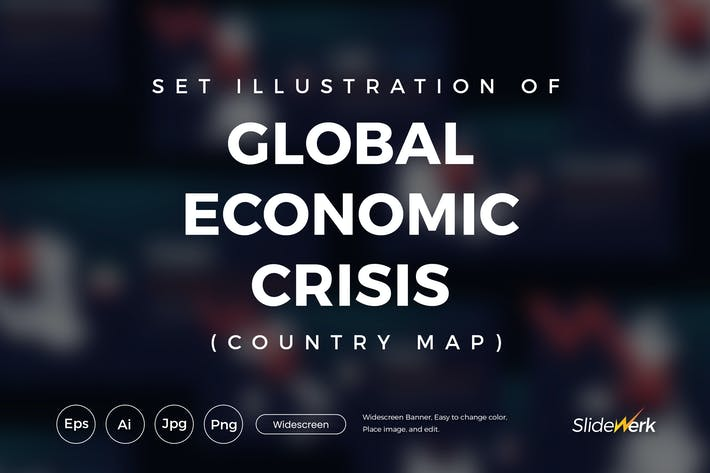 Thumbnail for Set of 9 Global Economic Crisis Country Map