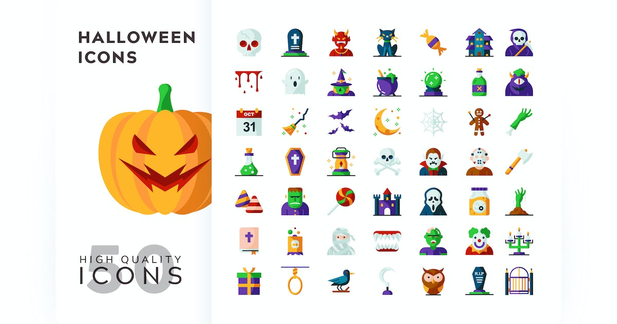 Download HALLOWEEN FLAT COLOR by subqistd