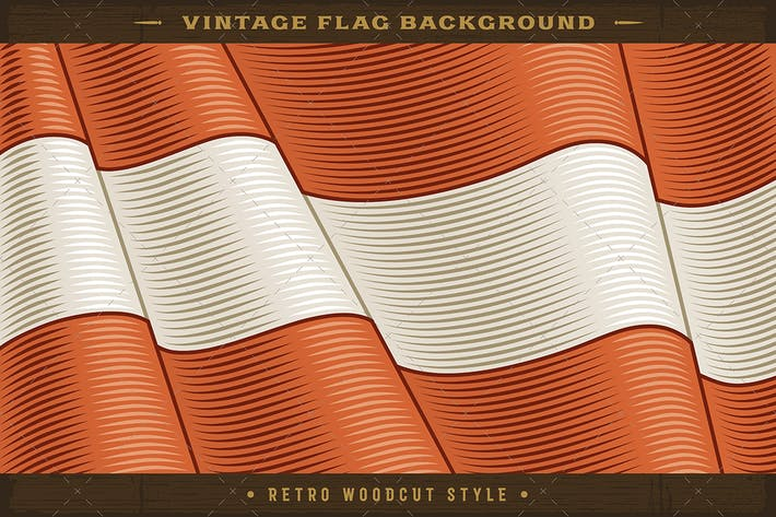 Vintage Flag Of Austria. Close-up Background