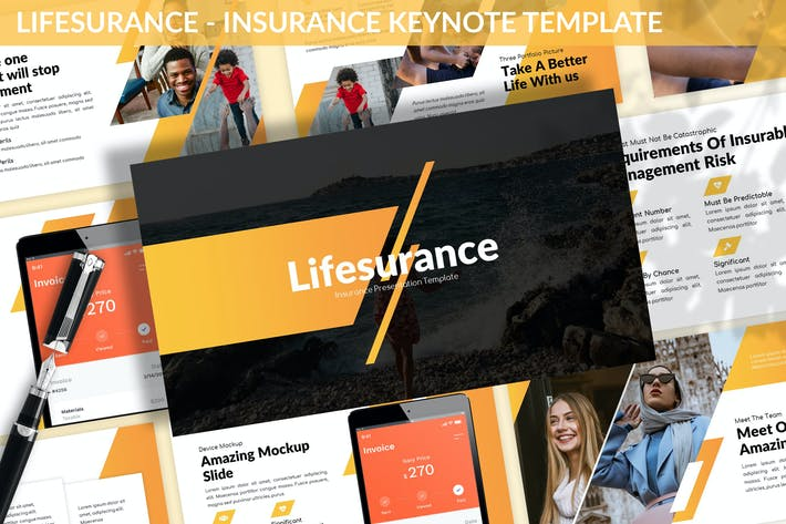 Thumbnail for Lifesurance - Insurance Keynote Template