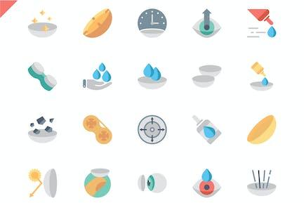 Simple Set Eye Lens Flat Icons