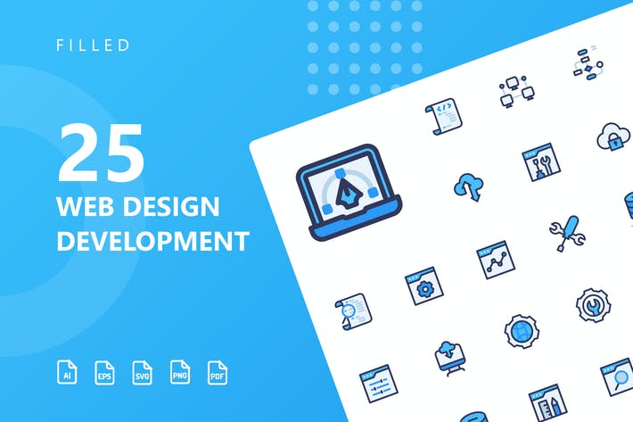 Thumbnail for Web Design Development Filled Icons