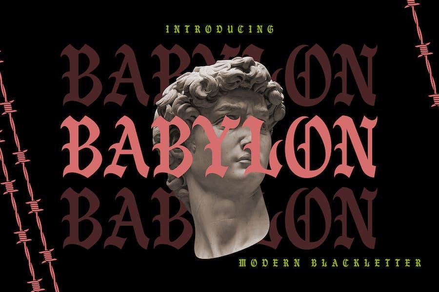 Babilonia | Blackletter moderna