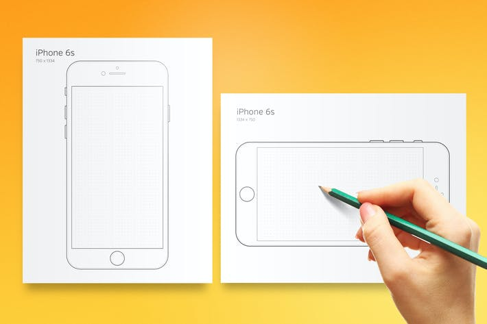 Thumbnail for Printable iPhone 6 Prototyping Sheet
