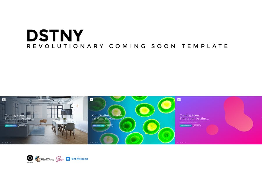 DSTNY - Revolutionary Coming Soon Template