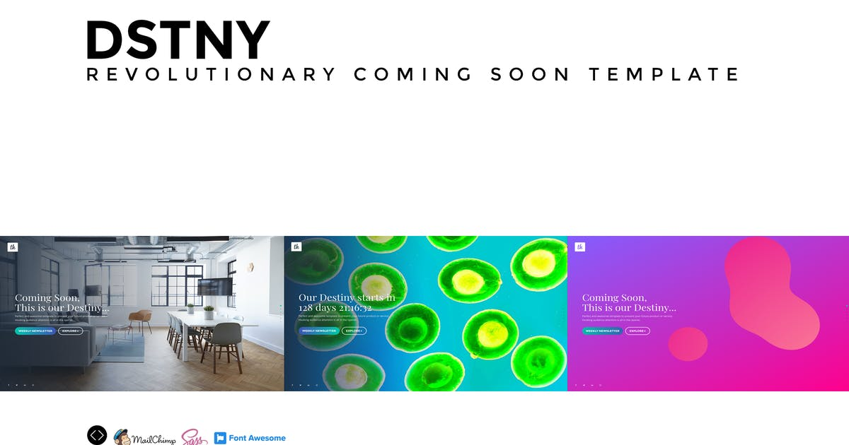 Download DSTNY - Revolutionary Coming Soon Template by Madeon08