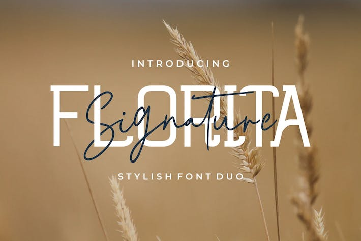 Thumbnail for Florita - Font Duo