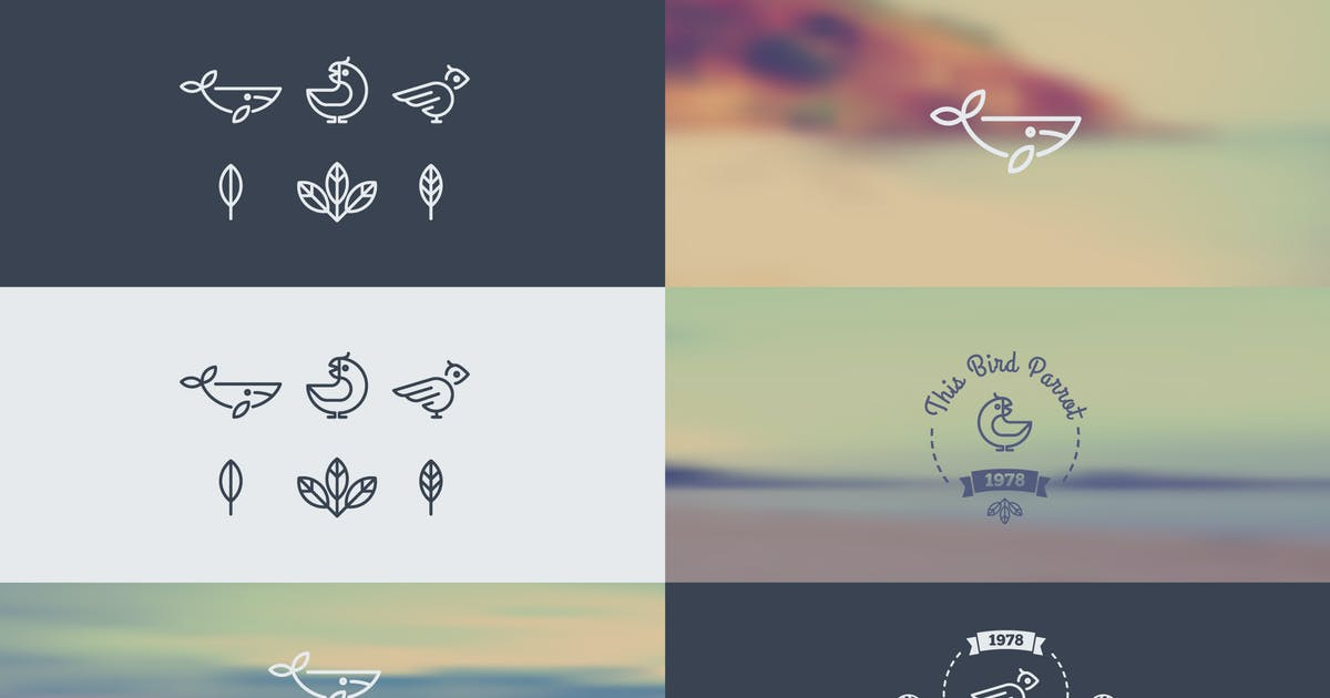 Logo with the Animals in the Style of Hipster. Tre by fet
