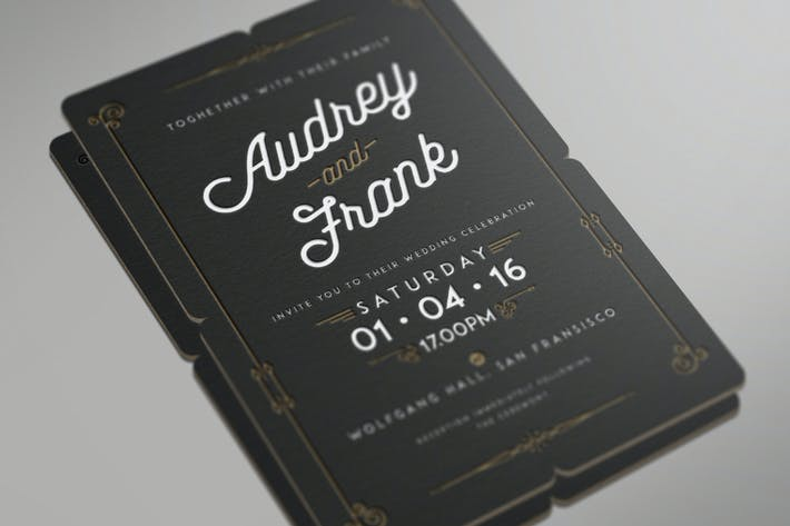 Thumbnail for Invitation de mariage Letterpress