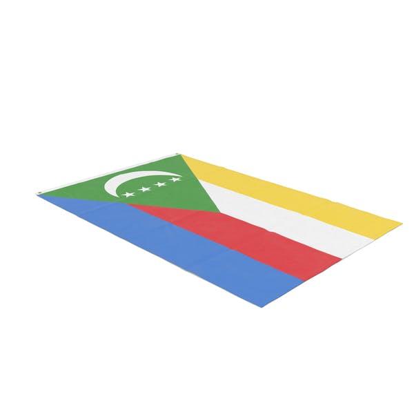Flag Laying Pose Comoros