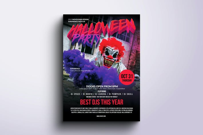 Thumbnail for Halloween Party Poster & Flyer v2