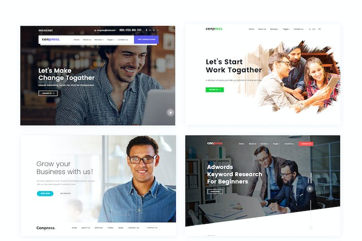 Thumbnail for Conpress. Business & Agency PSD Template