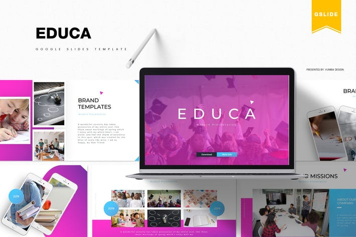 Thumbnail for Educa | Google PräsentationsVorlage