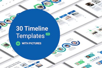 Timeline with images for PowerPoint