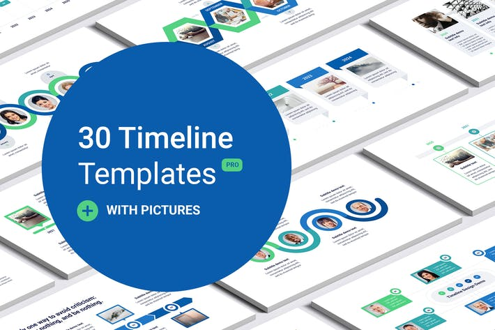Thumbnail for Timeline with images for PowerPoint