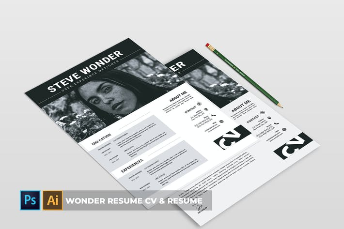 Cover Image For Wonder Resume | CV & Resume