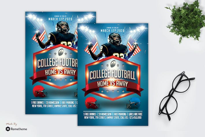 Thumbnail for College Football - Sport Flyer MR