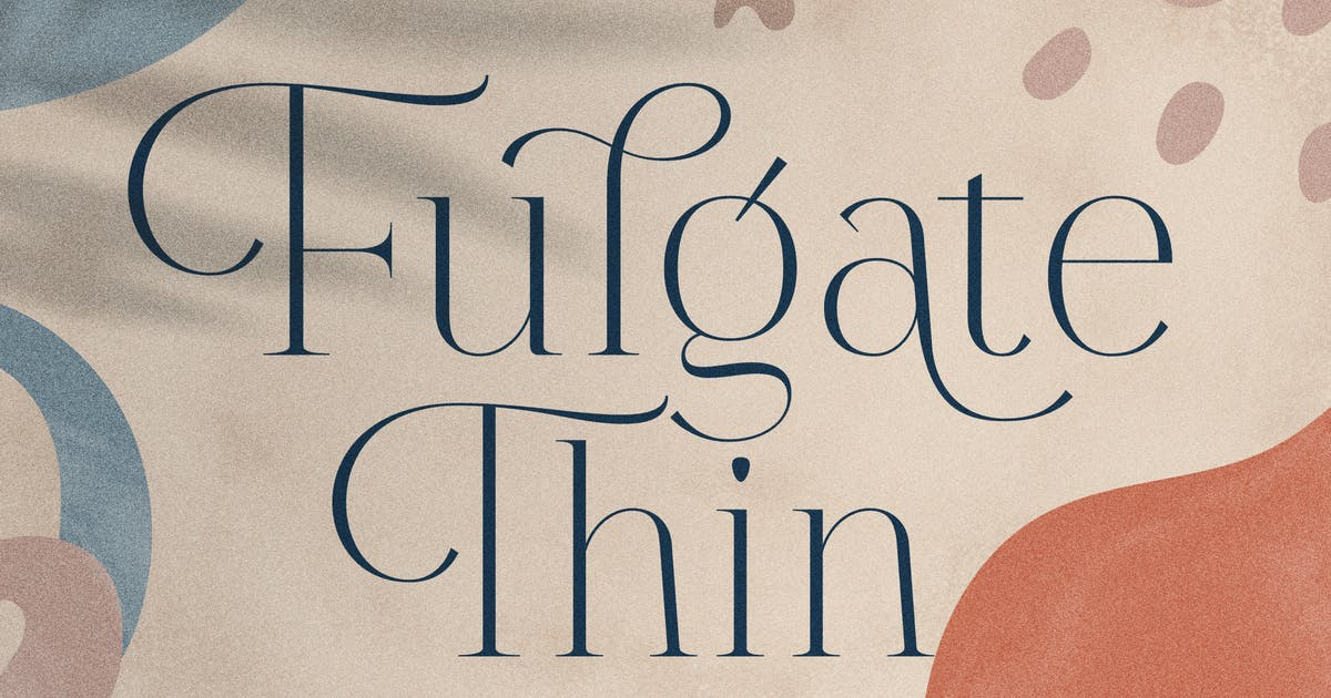 Download Fulgate Thin by Flavortype