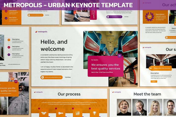 Thumbnail for Метрополис - Городской Keynote шаблон