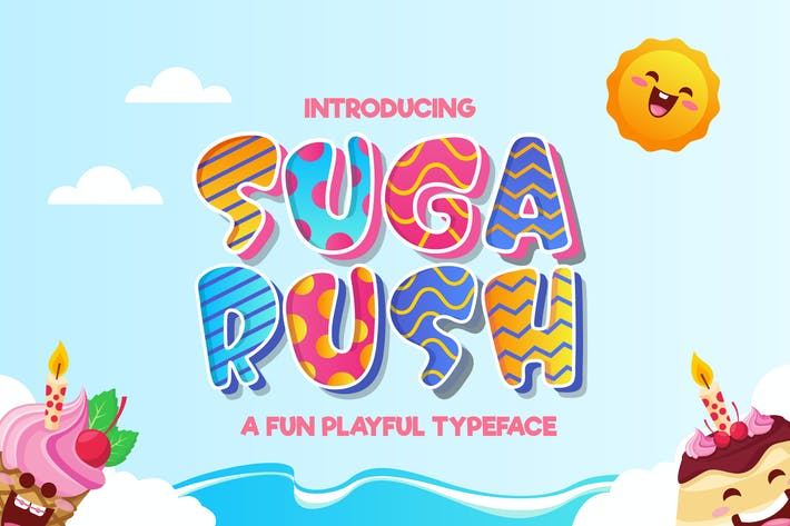 Thumbnail for Suga Rush - Fun Playful Typeface