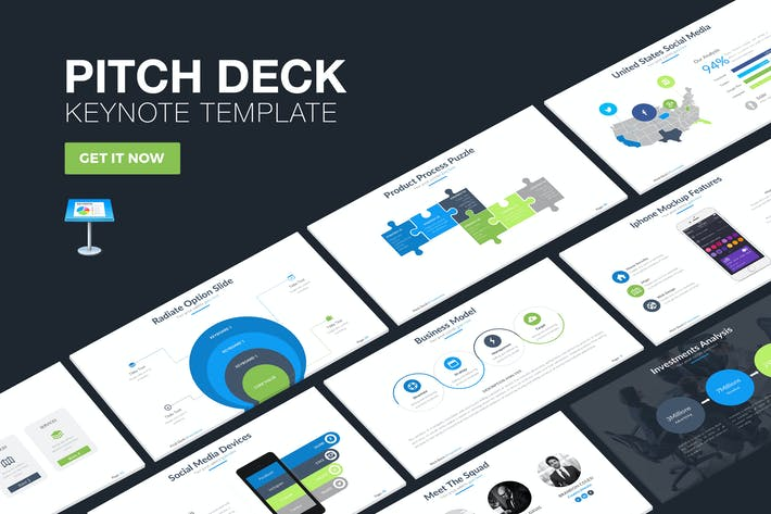 Download 941 keynote presentation templates envato elements thumbnail for pitch deck keynote template cheaphphosting Images
