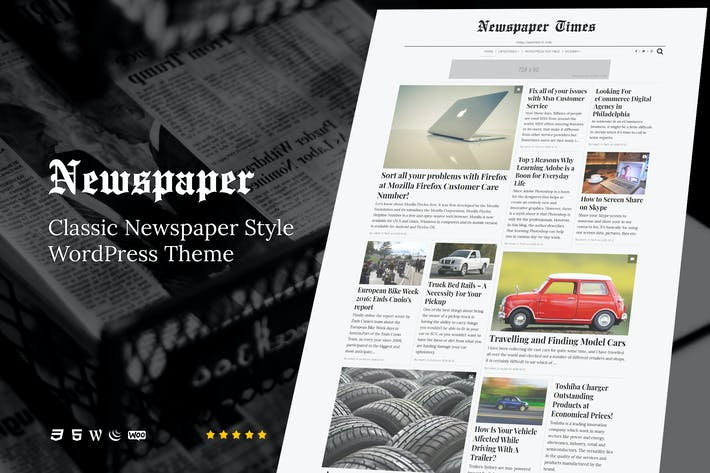 Thumbnail for NewsPaper - News & Magazine WordPress Theme