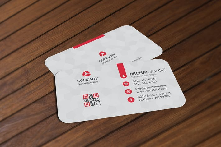Thumbnail for Realistic Business Card Mockup V1