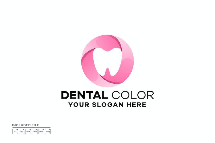 Abstract Dental Gradient Logo