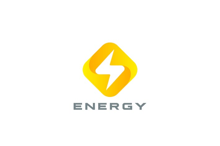 Logo Flash Energy Power Rhombus shape
