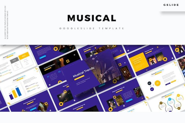 Thumbnail for Музыкальный - Шаблон слайдов Google