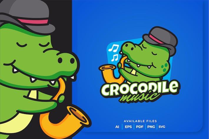 Thumbnail for Crocodile Music Mascot Logo