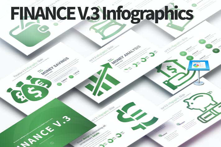 Thumbnail for FINANCE V.3 - Keynote Infographics Slides