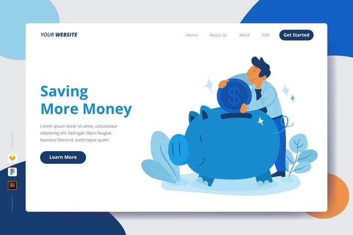 Thumbnail for Saving More Money - Landing page