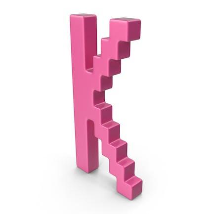 K  Letter Pink