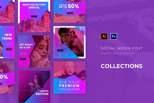 New Collection Sale Social Media Post