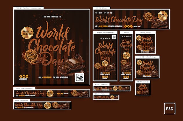 World Chocolate Day Banners Ad