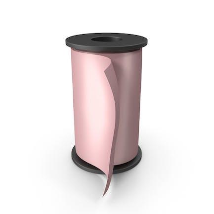 Pink Silk Ribbon Spool