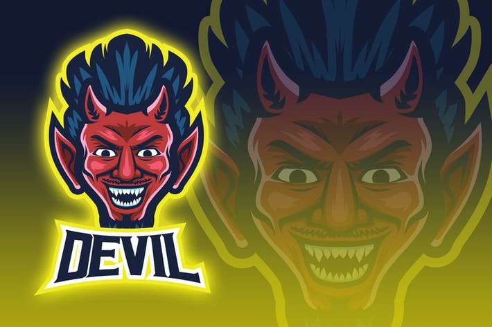 Thumbnail for Devil Face Esport Logo