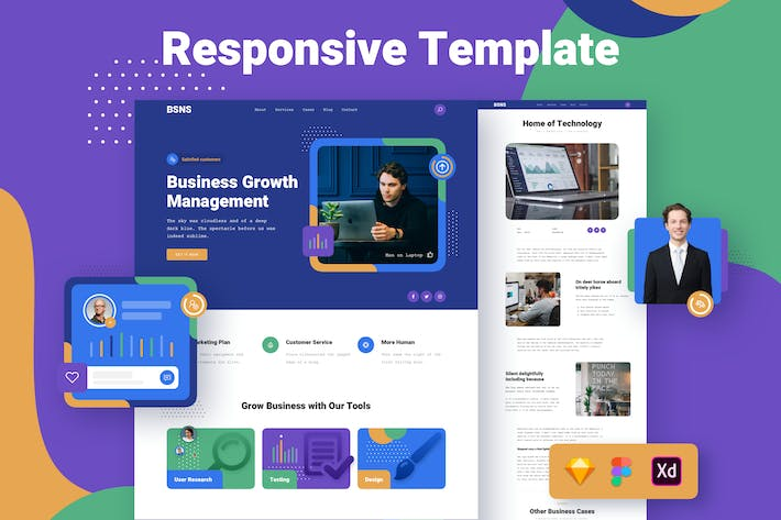 Thumbnail for Corporate Business Responsive Template