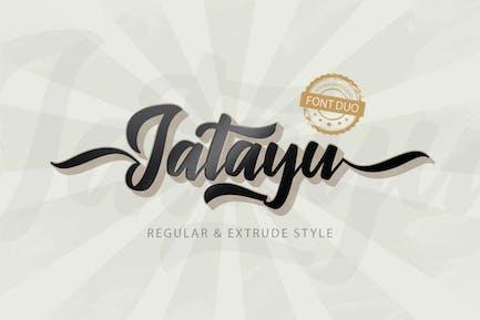 Jatayu Scipt Font Layered