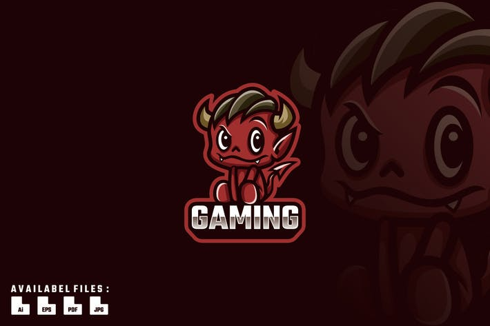 Demon Child Logo Mascot