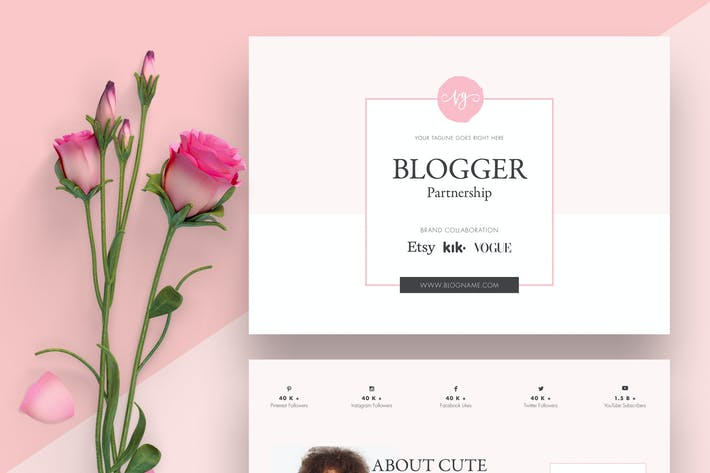 Thumbnail for Blogger Proposal Template