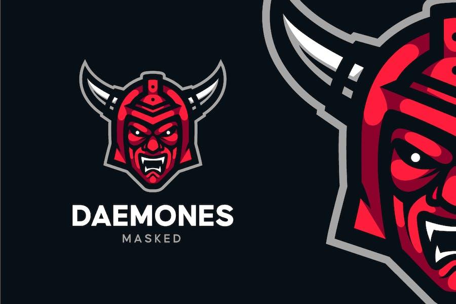 Demon Mask Helmet Logo