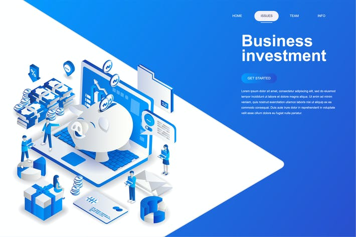 Thumbnail for Business Investment Isometric Concept