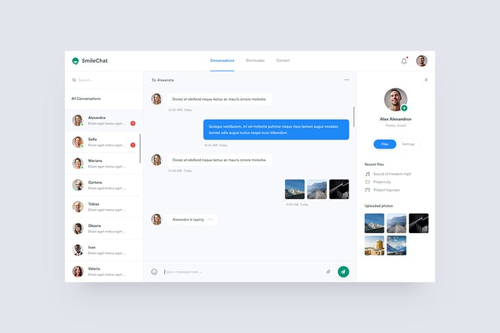 Thumbnail for Smilechat — Chat PSD Template