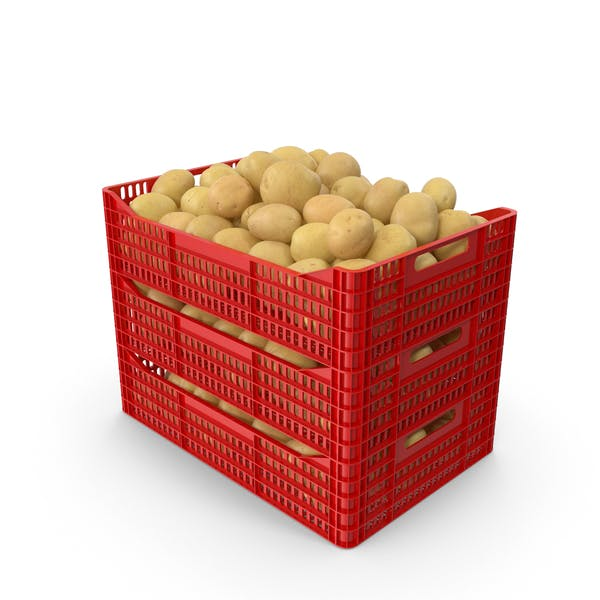 Thumbnail for Plastic Crate of Potatoes