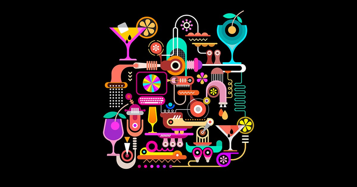 Download Cocktail Machine vector illustration by danjazzia